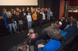 Zvonka T. Simčič, Valerie Wolf Gang, Urša Bonelli Potokar: Kombinat, premiera dokumentarnega filma, Slovensk kinoteka, 11.01.2016 © nada žgank